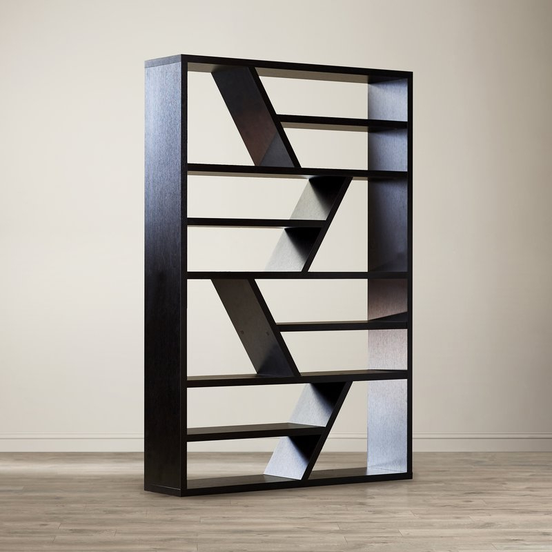 Latest Vaccaro Geometric Bookcases Within Swarey Geometric Bookcase (Gallery 12 of 20)