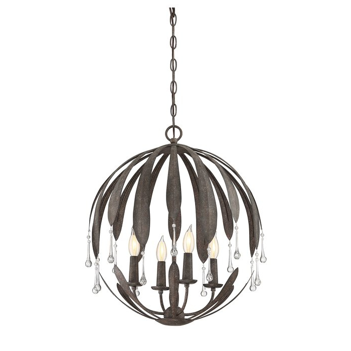 Latest Wyant 4 Light Chandelier With Regard To Morganti 4 Light Chandeliers (Gallery 16 of 30)