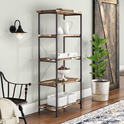 Laurel Foundry Modern Farmhouse Epine Etagere Bookcase In Inside Favorite Moriann Etagere Bookcases (Gallery 19 of 20)