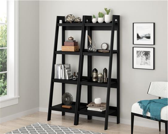 Lawrence 4 Shelf Ladder Bookcase (View 14 of 20)