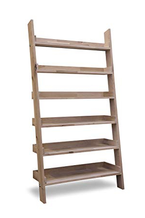 Leisure Traders Large Wide Wooden Ladder Bookshelf Floating Inside Widely Used Wide Ladder Bookcases (View 8 of 20)