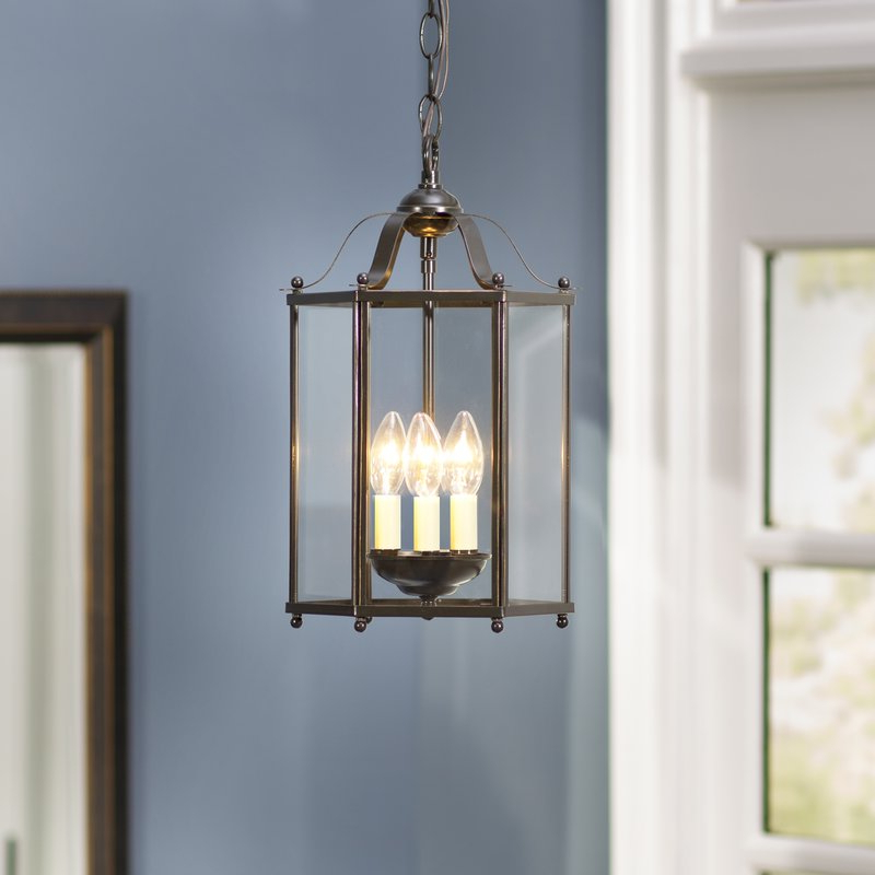 Leiters 3 Light Lantern Geometric Pendant In Fashionable Leiters 3 Light Lantern Geometric Pendants (View 7 of 30)