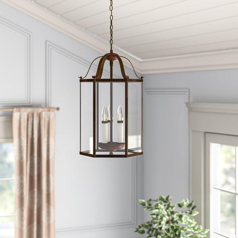 Leiters 3 Light Lantern Geometric Pendant Inside Recent Leiters 3 Light Lantern Geometric Pendants (View 5 of 30)
