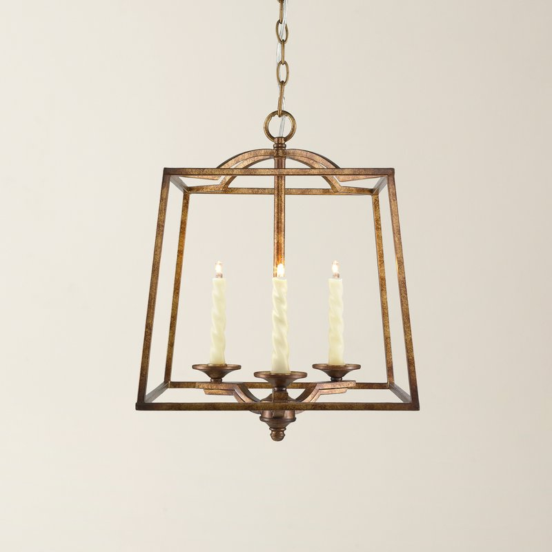 Leiters 3 Light Lantern Geometric Pendants Throughout Most Recently Released Senter 3 Light Steel Lantern Pendant (View 16 of 30)