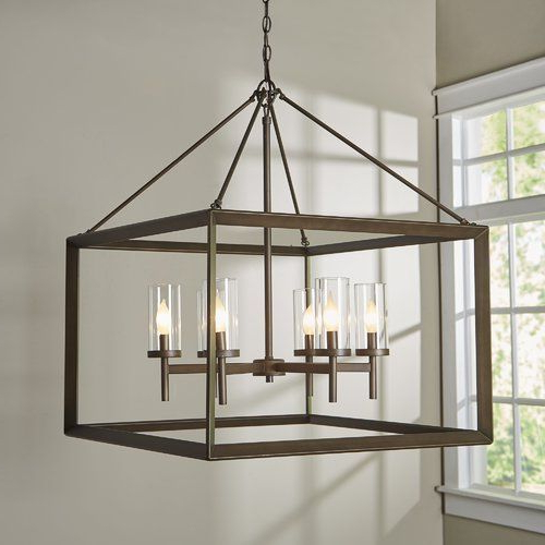 Lighting Pertaining To Widely Used Thorne 4 Light Lantern Rectangle Pendants (Gallery 29 of 30)