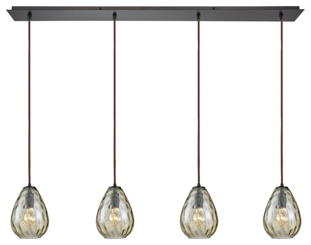 Lindsey 4 Light Drum Chandeliers Regarding Famous Lagoon 4 Light Linear Pan In Oil Rubbed Bronze (View 30 of 30)