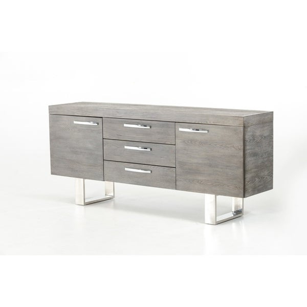 Lola Sideboards With Regard To Most Up To Date Shop Modrest Lola Modern Grey Brush Buffet – Free Shipping (View 8 of 20)