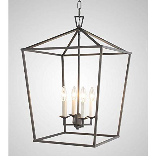 Louanne 1 Light Lantern Geometric Pendants In Popular Pendant Style Lantern: Amazon (View 15 of 30)