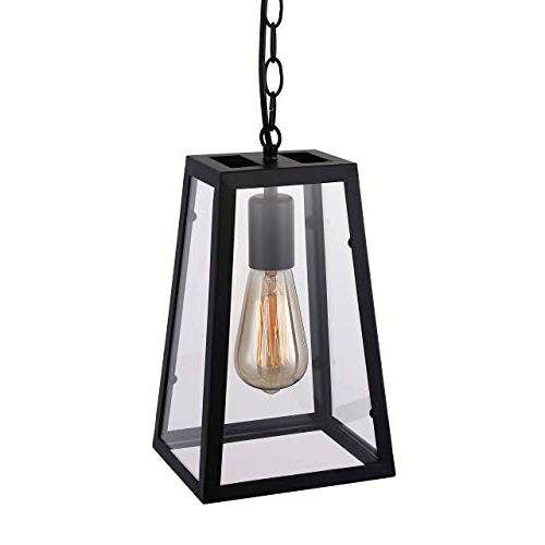 Louanne 1 Light Lantern Geometric Pendants Intended For Most Recently Released Pendant Style Lantern: Amazon (View 17 of 30)