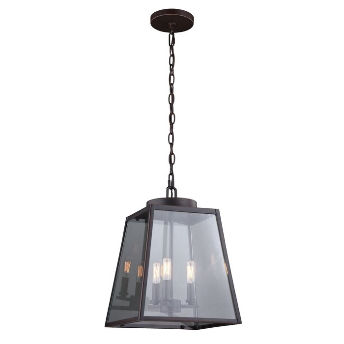 Featured Photo of Louanne 3 Light Lantern Geometric Pendants