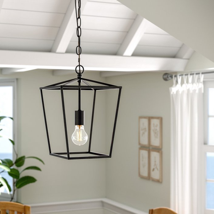 Louanne 3 Light Lantern Geometric Pendants In 2020 Finnick 1 Light Geometric Pendant (View 13 of 30)