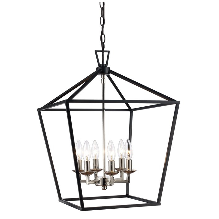 Louanne 3 Light Lantern Geometric Pendants Regarding 2020 Carmen 6 Light Lantern Geometric Pendant (View 11 of 30)