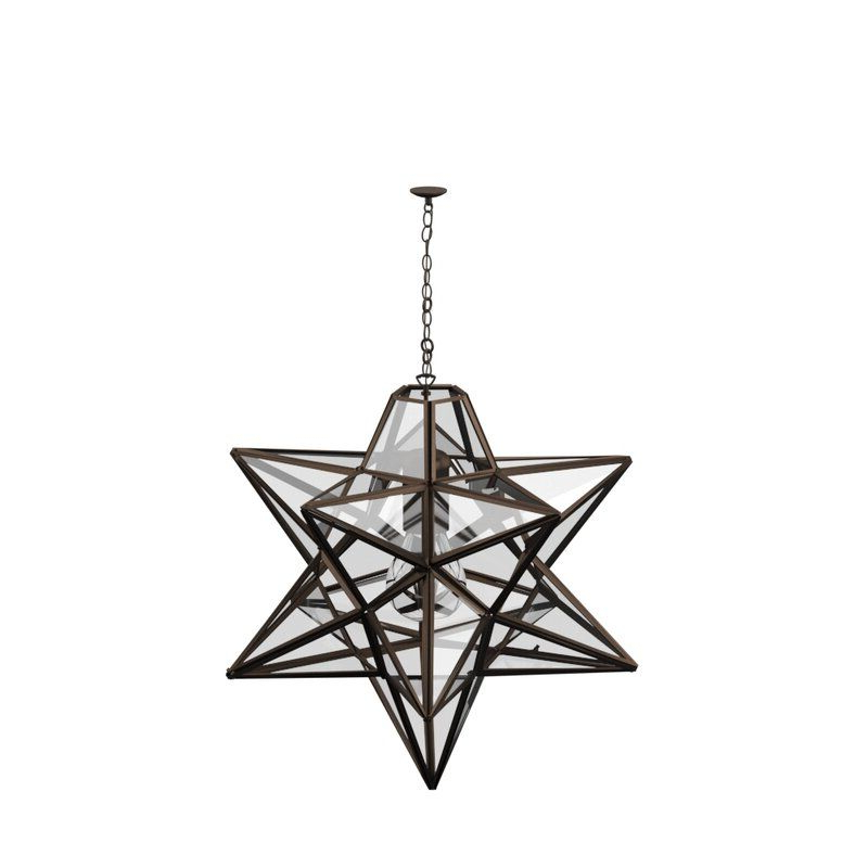 Louanne 3 Light Lantern Geometric Pendants With Most Current Sture 1 Light Geometric Pendant (View 16 of 30)
