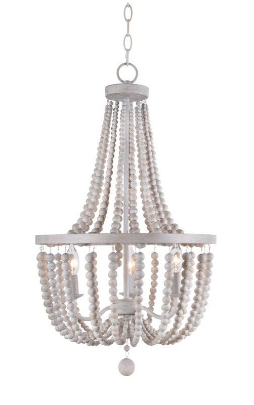 Louis Wood Bead 3 Light Empire Chandelier For 2020 Ladonna 5 Light Novelty Chandeliers (View 27 of 30)