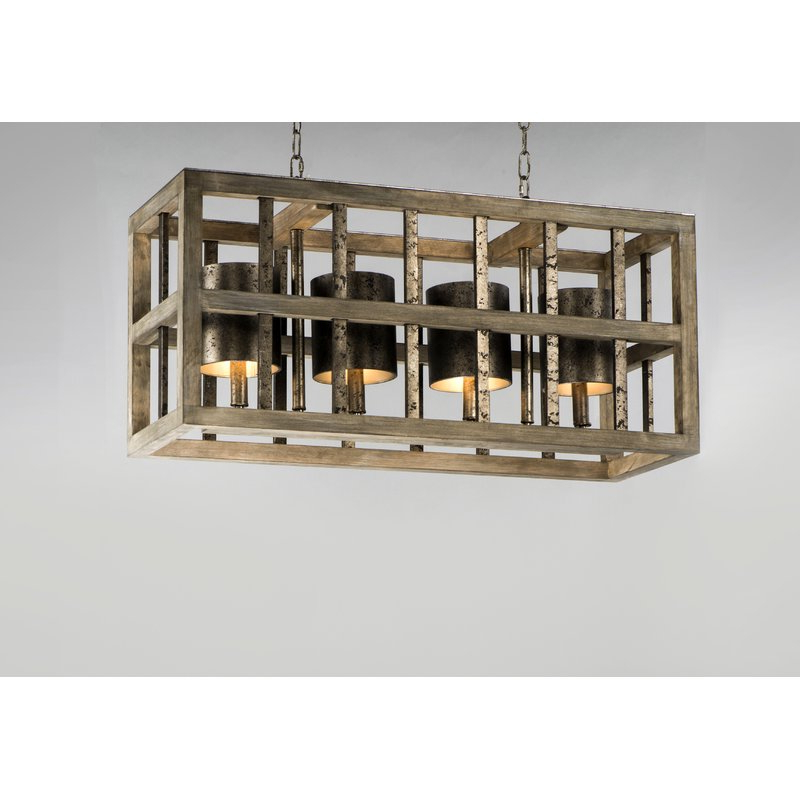 Louison 4 Light Square/rectangle Chandelier Within Newest Ellenton 4 Light Rectangle Chandeliers (View 22 of 30)
