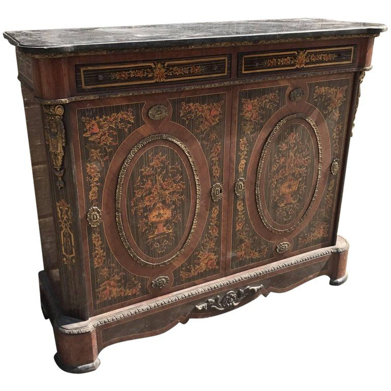 Lovely French Decorated Antique Sideboard Or Buffet In 2019 Inside Popular Armelle Sideboards (View 12 of 20)