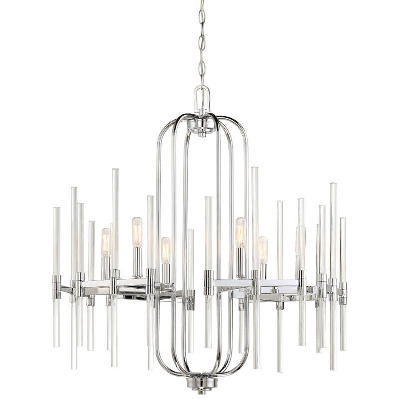 Lynn 6 Light Geometric Chandeliers Intended For Popular Concepcion 6 Light Candle Style Chandelier (View 15 of 30)