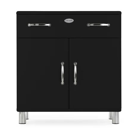 Malibu 2 Door 1 Drawer Sideboards With Well Liked Malibu 2 Door 1 Drawer Sideboard  Black (View 12 of 20)