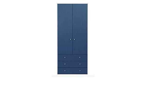 Malibu Wide 3 Drawer 2 Door Wooden Bedroom Wardrobe Cupboard In Fashionable Malibu 2 Door 1 Drawer Sideboards (View 13 of 20)