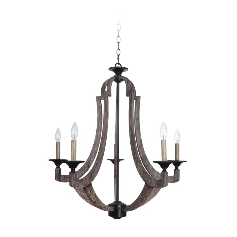 Marcoux 5 Light Empire Chandelier Intended For Trendy Kenna 5 Light Empire Chandeliers (Gallery 8 of 30)