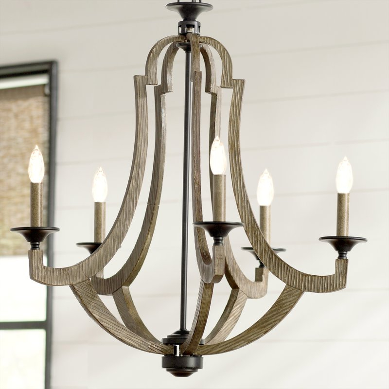 Marcoux 5 Light Empire Chandelier Pertaining To Well Known Kenna 5 Light Empire Chandeliers (View 21 of 30)
