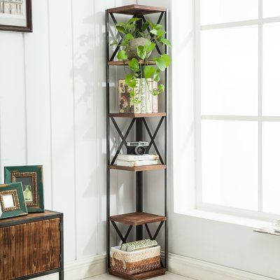 Mari Wood Corner Bookcases In Favorite Williston Forge Gurley Corner Unit Bookcase In 2019 (Gallery 8 of 20)