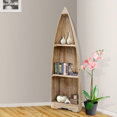 Mari Wood Corner Bookcases Within Preferred Loon Peak Renwick Small Boat Corner Bookcase (View 14 of 20)