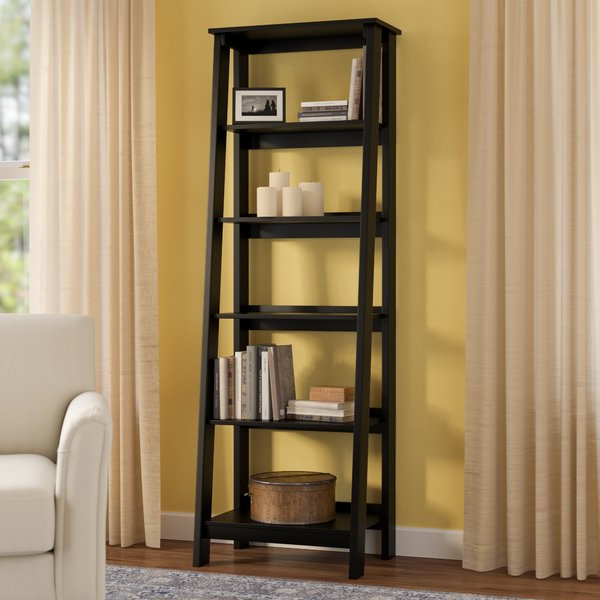 Massena Ladder Bookcasethree Posts Pertaining To Most Popular Blevens A Frame Ladder Bookcases (View 16 of 20)