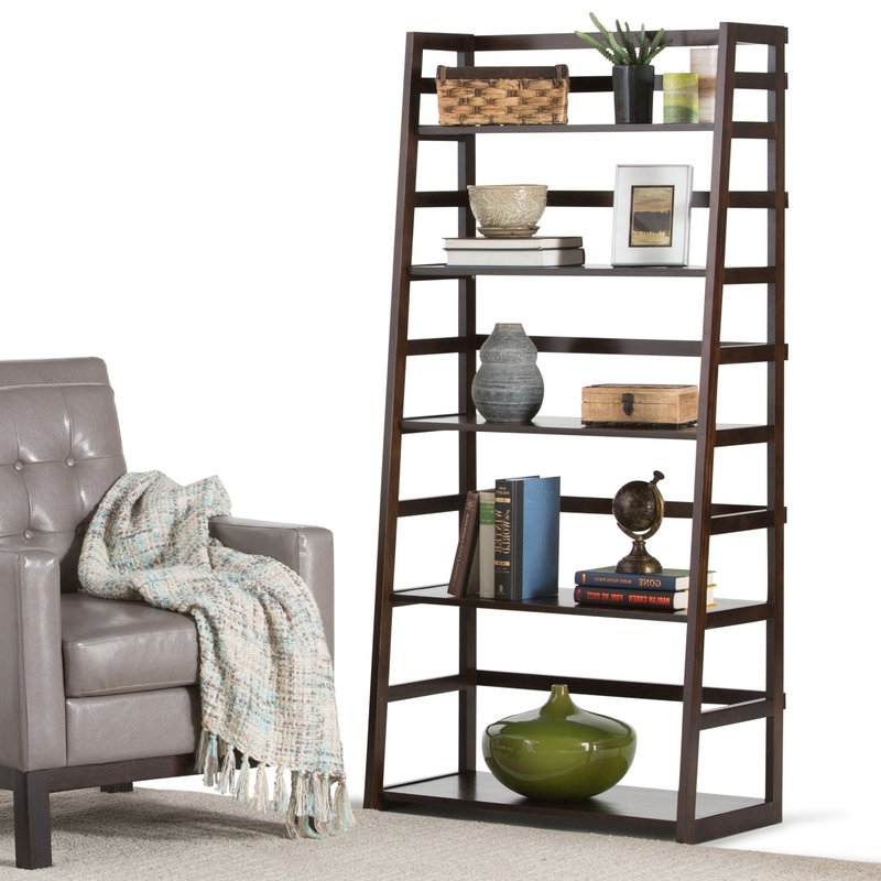Mayna Ladder Bookcase Regarding Well Liked Mayna Ladder Bookcases (View 9 of 20)