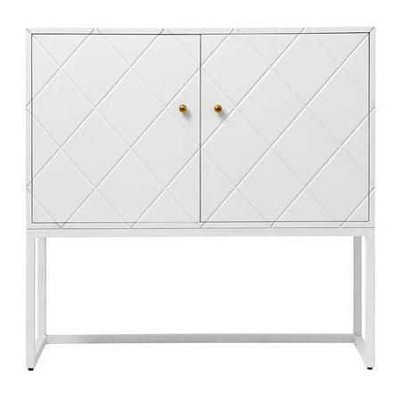 Mcdonnell Sideboards For Latest Buffet Squares Two Door Cabinet – White (View 5 of 20)