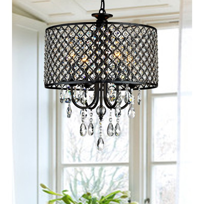 Mckamey 4 Light Crystal Chandelier Pertaining To Well Known Albano 4 Light Crystal Chandeliers (Gallery 7 of 30)