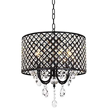Mckamey 4 Light Crystal Chandeliers Intended For Famous Edvivi Marya 4 Lights Oil Rubbed Bronze Round Crystal (View 12 of 30)