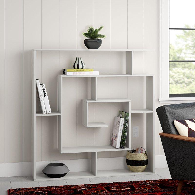 Mckibben Geometric Bookcase For Favorite Mckibben Geometric Bookcases (Gallery 4 of 20)