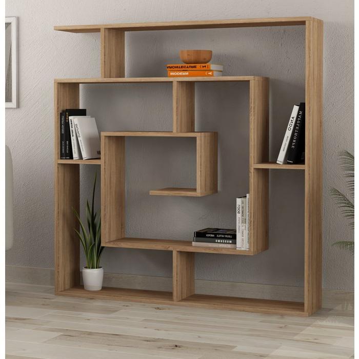 Mckibben Geometric Bookcase In Fashionable Mckibben Geometric Bookcases (View 5 of 20)