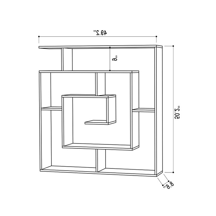Mckibben Geometric Bookcase Throughout Most Recent Mckibben Geometric Bookcases (View 10 of 20)