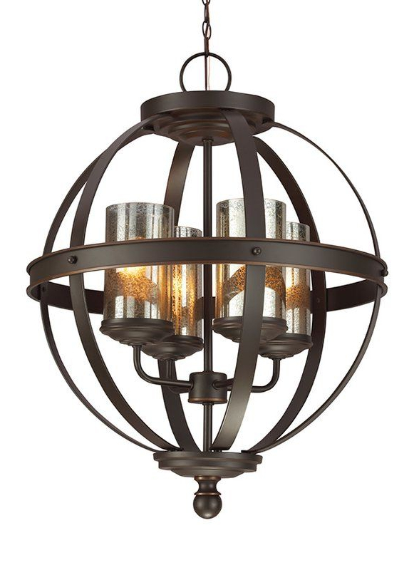 Mercury Glass In Donna 4 Light Globe Chandeliers (View 8 of 30)