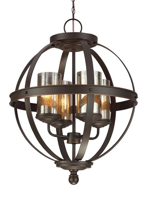 Mercury Glass In Donna 4 Light Globe Chandeliers (Gallery 8 of 30)