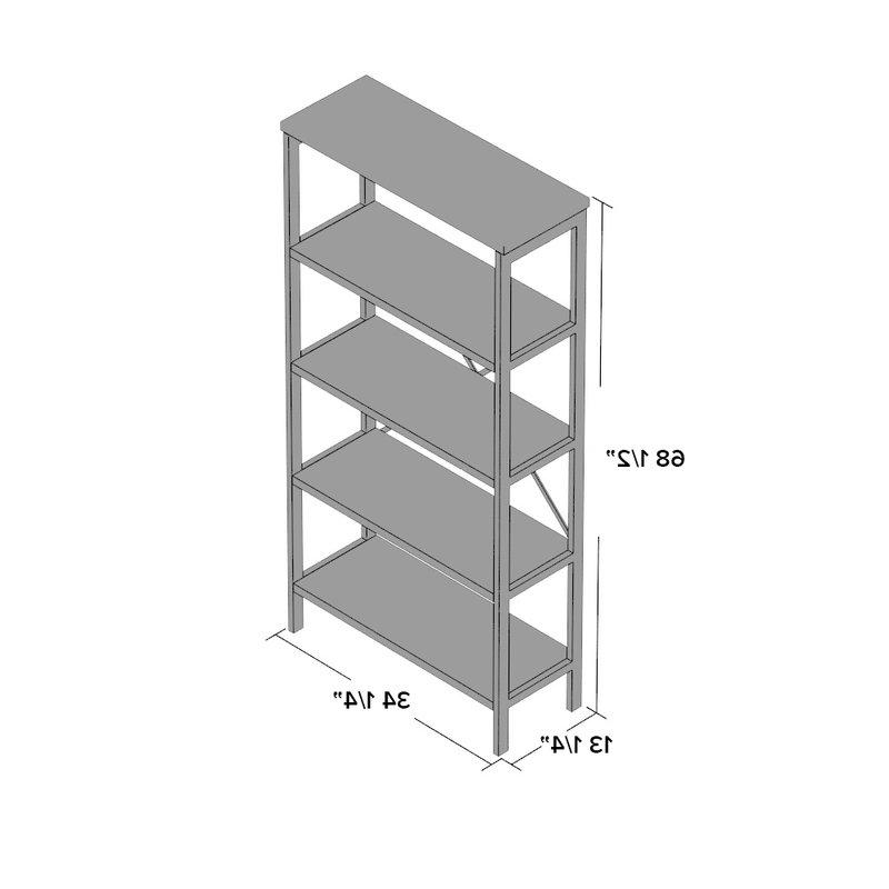 Mercury Row Parthenia Etagere Bookcase With Most Popular Parthenia Etagere Bookcases (View 7 of 20)