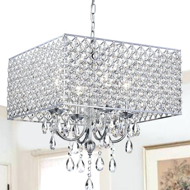 Metal And Crystal Chandelier – Mobilejesus.co Regarding 2019 Albano 4 Light Crystal Chandeliers (Gallery 16 of 30)