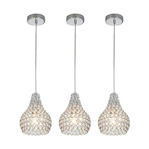 Mini Pendant Lights: Amazon Regarding Trendy Whitten 4 Light Crystal Chandeliers (Gallery 23 of 30)
