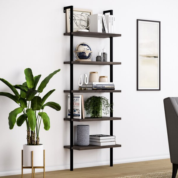 Modern & Contemporary Metal Ladder Shelf (View 17 of 20)