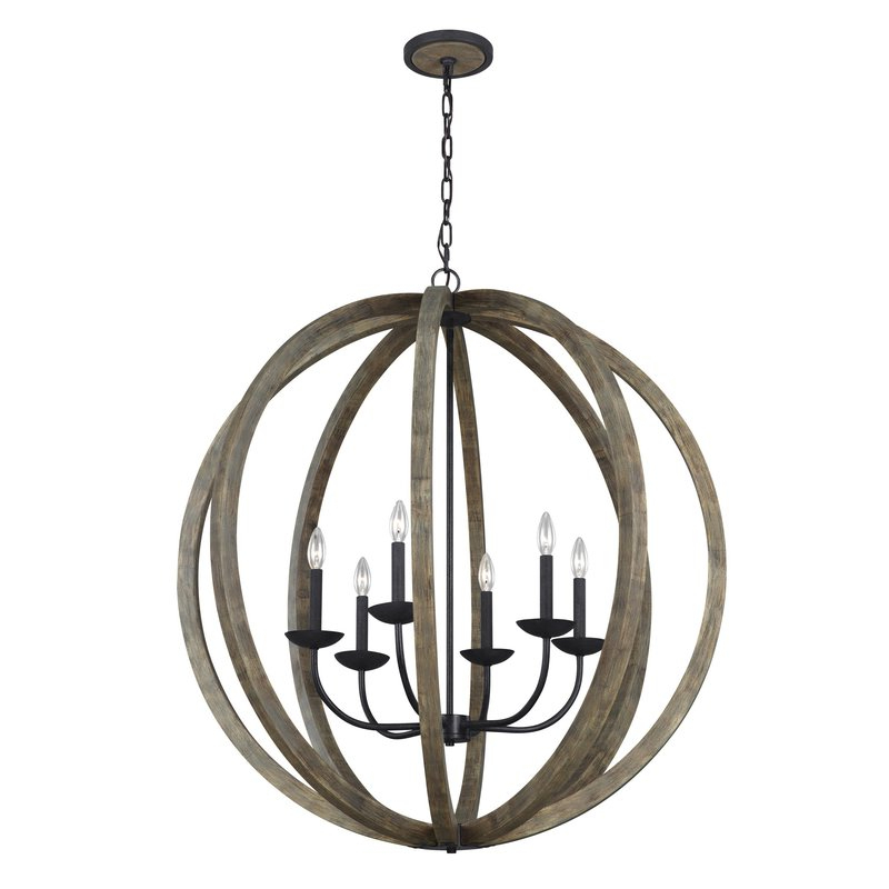 Morganti 4 Light Chandeliers In Fashionable Flavien 6 Light Globe Chandelier (Gallery 29 of 30)