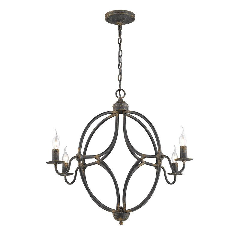 Morganti 4 Light Chandeliers Inside Preferred Darla 4 Light Candle Style Chandelier In (View 9 of 30)