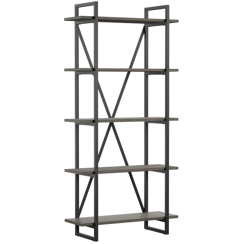 Moriann Etagere Bookcases Intended For Fashionable Keeble Metal Etagere Bookcase (View 13 of 20)