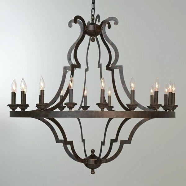 Most Current 18 Light Chandelier Shop Largehome Rustic Brown Free Inside Defreitas 18 Light Sputnik Chandeliers (Gallery 27 of 30)