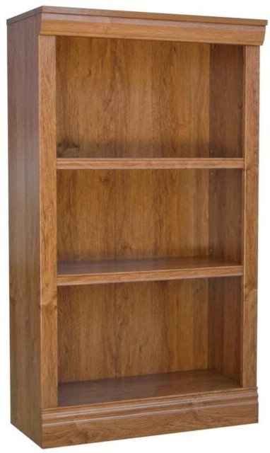 Most Current 3 Shelf Standard Bookcase Office Home Furniture Book Storage Organzer Dark Brown Intended For Cerrato Standard Bookcases (View 11 of 20)