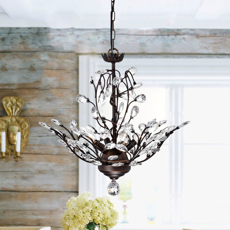Most Current Alijah 4 Light Led Candle Style Chandelier Inside Hesse 5 Light Candle Style Chandeliers (View 25 of 30)