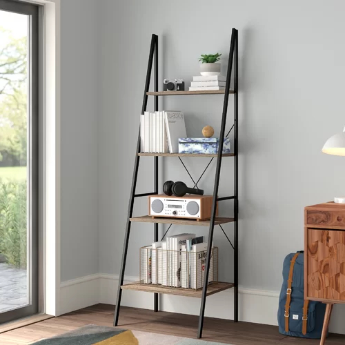 Most Current Almanzar Ladder Bookcases Regarding Almanzar Ladder Bookcase (Gallery 20 of 20)