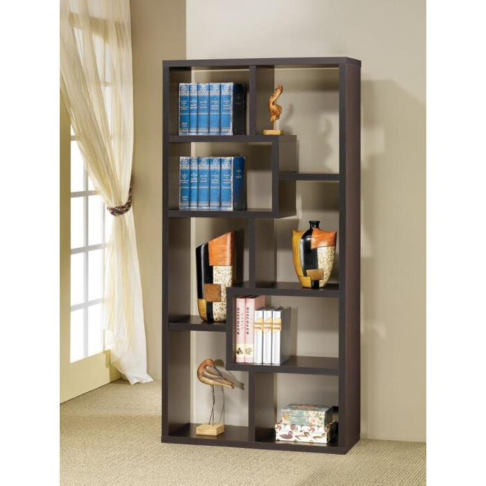 Most Current Ansley Geometric Bookcases With Regard To Ansley Geometric Bookcase (Gallery 4 of 20)