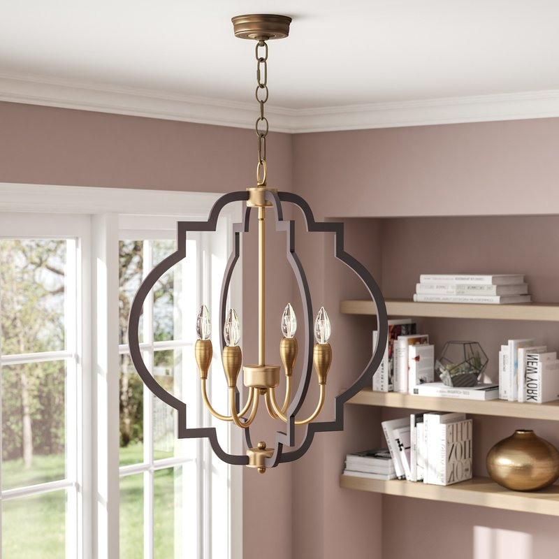 Most Current Astin 4 Light Geometric Chandelier Inside Kaycee 4 Light Geometric Chandeliers (Gallery 15 of 30)